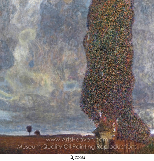 Gustav Klimt, Approaching Thunderstorm (The Large Poplar II) oil painting reproduction