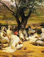 Arab Chieftains In Council painting reproduction, Horace Vernet