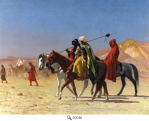 Jean-Leon Gerome, Arabs Crossing the Desert oil painting reproduction