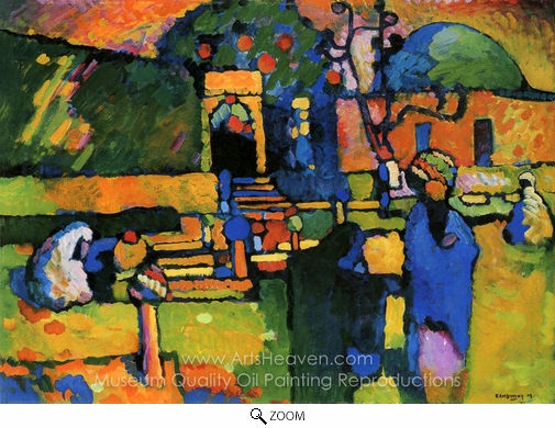 Wassily Kandinsky, Arabs I (Cemetery) oil painting reproduction