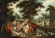 Arcadia - The Golden Age painting reproduction, Frans Francken