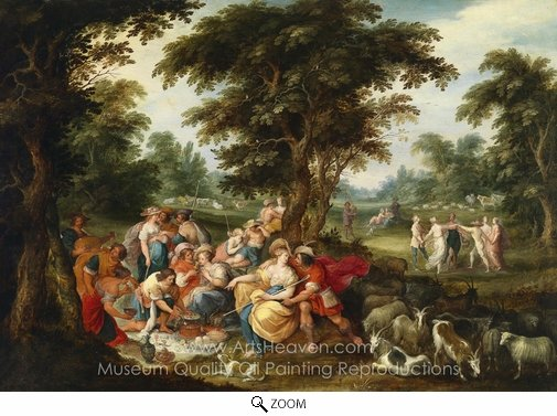 Frans Francken, Arcadia - The Golden Age oil painting reproduction