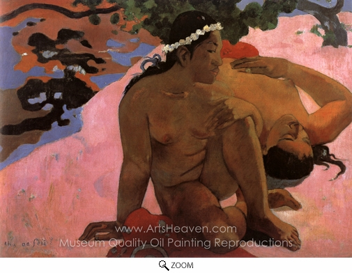 Paul Gauguin, Are You Jealous? (Aha oe feii) oil painting reproduction