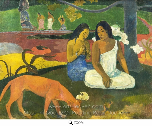 Paul Gauguin, Arearea (Happiness) oil painting reproduction