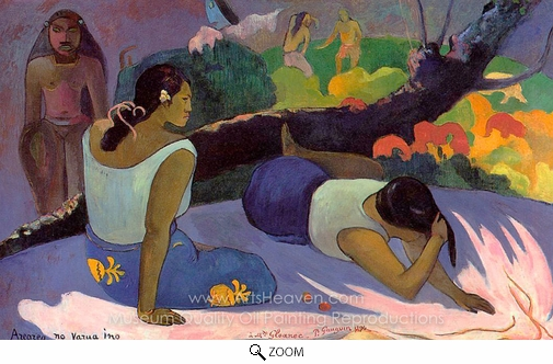 Paul Gauguin, Arearea no Varua Ino oil painting reproduction
