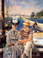 Argenteuil painting reproduction, �douard Manet
