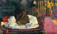 Arii Matamoe (The Royal End) painting reproduction, Paul Gauguin