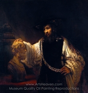 Aristotle with a Bust of Homer painting reproduction, Rembrandt Van Rijn