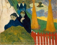 Arles (Mistral) painting reproduction, Paul Gauguin