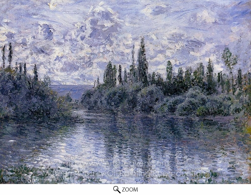 Claude Monet, Arm of the Seine Near Vetheuil oil painting reproduction