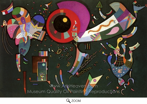 Wassily Kandinsky, Around the Circle oil painting reproduction