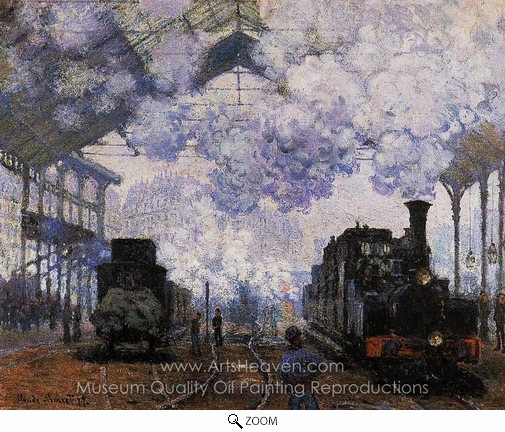 Claude Monet, Arrival at Saint-Lazare Station oil painting reproduction