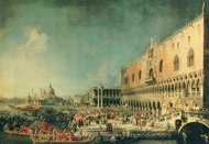 Arrival of the French Ambassador in Venice painting reproduction, Canaletto