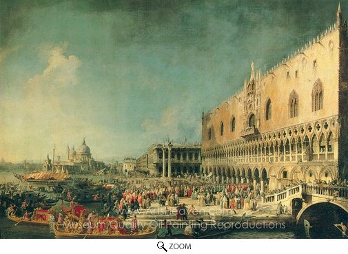 Canaletto, Arrival of the French Ambassador in Venice oil painting reproduction