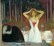 Ashes painting reproduction, Edvard Munch