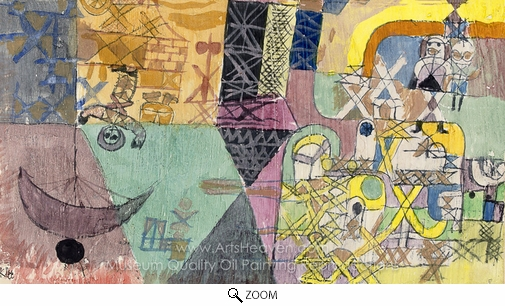 Paul Klee, Asiatische Gaukler oil painting reproduction