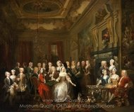 Assembly at Wanstead House painting reproduction, William Hogarth