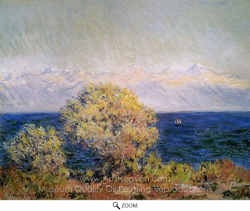 Claude Monet, At Cap d'Antibes, Mistral Wind oil painting reproduction