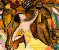 At the Ball painting reproduction, Alice Bailly