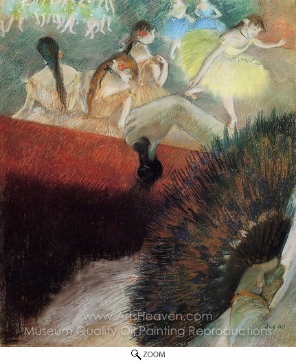 Edgar Degas, At the Ballet oil painting reproduction