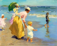 At the Beach painting reproduction, Edward Henry Potthast