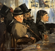 At the Cafe painting reproduction, �douard Manet
