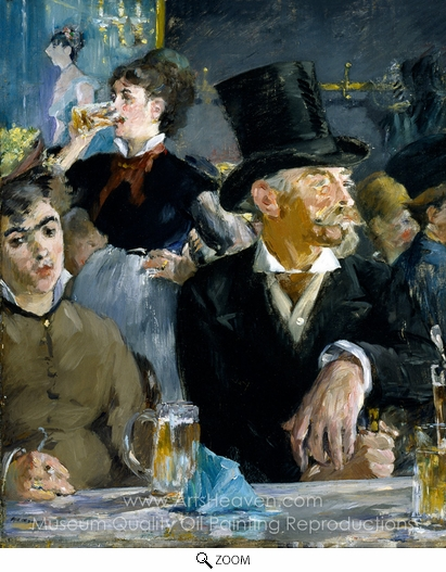 Édouard Manet, At the Cafe oil painting reproduction