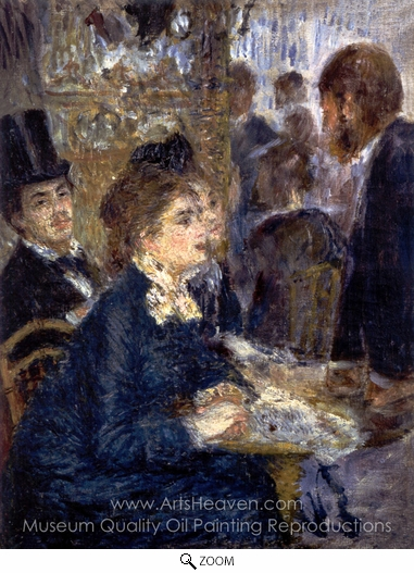 Pierre-Auguste Renoir, At the Cafe oil painting reproduction