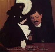 At the Cafe, the Privincial painting reproduction, Felix Vallotton