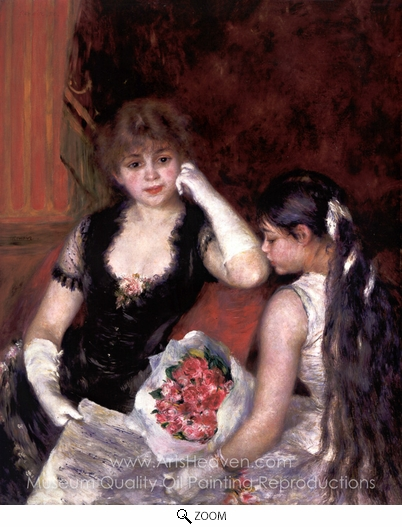 Pierre-Auguste Renoir, At the Concert (Box at the Opera) oil painting reproduction