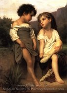 At the Edge of the Brook (Au Bord du Ruisseau) painting reproduction, William A. Bouguereau