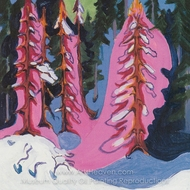 At the Forest Edge painting reproduction, Ernst Ludwig Kirchner
