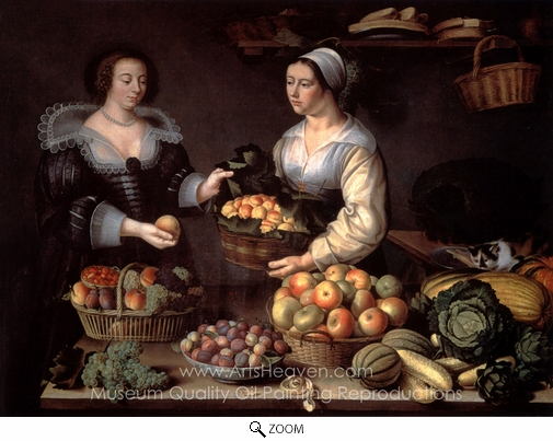 Louise Moillon, At the Greengrocer oil painting reproduction