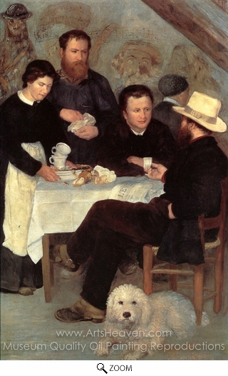 Pierre-Auguste Renoir, At the Inn of Mother Anthony oil painting reproduction