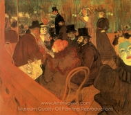 At the Moulin Rouge painting reproduction, Henri De Toulouse-Lautrec