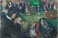 At the Roulette Table in Monte Carlo painting reproduction, Edvard Munch