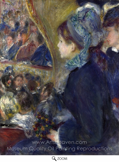 Pierre-Auguste Renoir, At the Theatre (La Premiere Sortie) oil painting reproduction