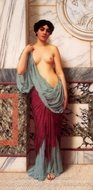 At the Thermae painting reproduction, John William Godward