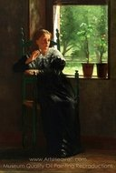 At the Window painting reproduction, Winslow Homer