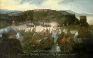 Attack on San Salvador painting reproduction, Andries Van Eertvelt