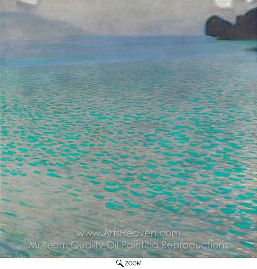 Gustav Klimt, Attersee oil painting reproduction