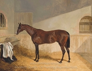 Attila, in a Stable painting reproduction, John Frederick Herring Sr.