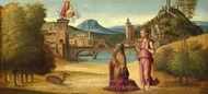 Augustus and the Sibyl painting reproduction, Italian Painter