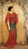 Autumn painting reproduction, John William Godward