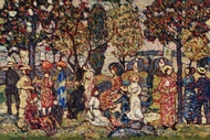 Autumn painting reproduction, Maurice Prendergast