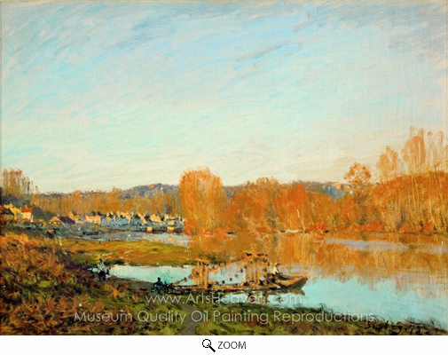 Alfred Sisley, Autumn, Banks of the Seine Near Bougival oil painting reproduction