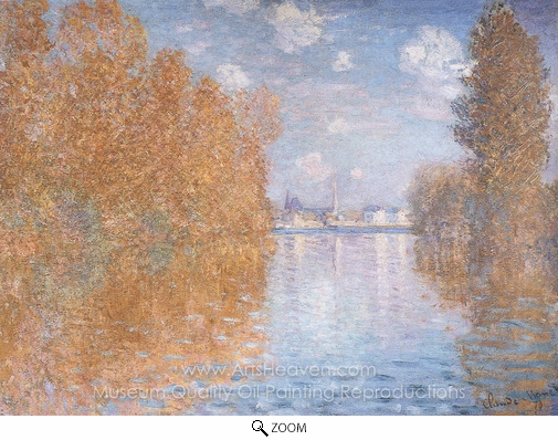 Claude Monet, Autumn Effect at Argenteuil oil painting reproduction