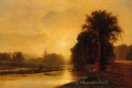 Autumn Meadows painting reproduction, George Inness