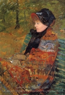 Autumn (Profile of Lydia Cassatt) painting reproduction, Mary Cassatt