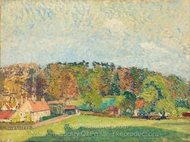 Autumn, Sussex painting reproduction, Spencer Frederick Gore